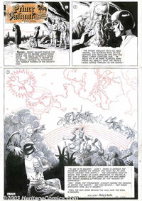 Hal Foster - Original Comic Strip Art for Prince Valiant Sunday, dated 12-21-52 (King Features Syndicate, 1952). A truly...