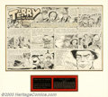 Original Comic Art:Comic Strip Art, George Wunder - Original Comic Strip Art for Terry and the PiratesSunday, dated 3-27-60 (News Syndicate, 1960). One of the ...
