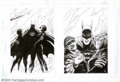 Original Comic Art:Sketches, Jim Aparo - Original Promotional Art for Batman: A Death in theFamily (DC, 1996). Alone against terrorists and the Joker, t...