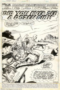 Original Comic Art:Splash Pages, Dick Ayers - Original Art for Combat Kelly #9, page 1 (Marvel,1973). A dramatic opening page with the Deadly Dozen embarkin...