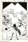 Original Comic Art:Covers, Eduardo Barreto and Romeo Tanghal - Original Cover Art for New TeenTitans #16 (DC, 1986). Starfire, Nightwing, and Jericho ...