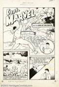 Original Comic Art:Splash Pages, C. C. Beck - Original Art for Captain Marvel Adventures #5, storypage 1 (Fawcett, 1941). Holy Moley! This amazing title spl...