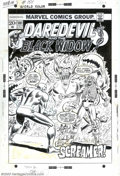 Original Comic Art:Covers, Rich Buckler and Frank Giacoia - Original Cover Art for Daredevil#101 (Marvel, 1973)....