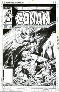 Original Comic Art:Covers, John Buscema - Original Cover Art for Conan the Barbarian #156(Marvel, 1984). From the plenary pencil of one of Marvel's ma...