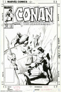 Original Comic Art:Covers, John Buscema - Original Cover Art for Conan the Barbarian #157 (Marvel, 1983). This is what Conan is all about - a captive m...