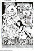 Original Comic Art:Splash Pages, John Buscema and Klaus Janson - Original Splash Page Art for Kullthe Conqueror #6, page 1 and 7 (Marvel, 1984). When one th...