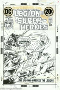 Original Comic Art:Covers, Nick Cardy - Original Cover Art for Legion of Superheroes #1 (DC,1973). Phantom Girl and Cosmic Boy run for cover as Superb...