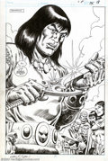 Original Comic Art:Splash Pages, Ernie Chan - Original Art for Conan Annual #12, page 15 (Marvel,1987). The Cimmerian Barbarian gets his close-up in this fu...