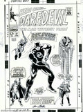 Original Comic Art:Covers, Gene Colan and Frank Giacoia - Original Cover Art for Daredevil #27(Marvel, 1967). Gene Colan's career on Daredevil and...