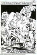 Original Comic Art:Splash Pages, Gene Colan and Tony DeZuniga - Original Art for Phantom Zone #1,page 31 (DC, 1982). The fiends from the Phantom Zone have b...