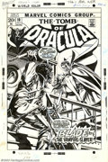 Original Comic Art:Covers, Gil Kane and Tom Palmer - Original Cover Art for The Tomb ofDracula #10 (Marvel, 1973). Maybe Dracula's hot stuff back in T...