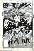 Original Comic Art:Covers, Denys Cowan and Bob Smith - Original Cover Art for Star Trek #22(DC, 1986). A disembodied force of evil, known as Redjac (a...