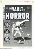 Original Comic Art:Covers, Johnny Craig - Original Cover Art for The Vault of Horror #40 (EC,1954). Talk about a big pain in the neck! EC stalwart Joh...