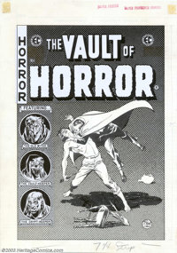 Johnny Craig - Original Cover Art for The Vault of Horror #40 (EC, 1954). Talk about a big pain in the neck! EC stalwart...