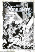 Original Comic Art:Covers, Paris Cullins and Rick Magyar - Original Cover Art for Vigilante#17 (DC, 1985). From a special issue dealing with child abu...