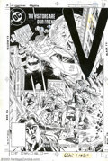 Original Comic Art:Covers, Tony DeZuniga - Original Cover Art for V: the Series #3 (DC, 1985).This third issue cover of the DC comic V: the Series...