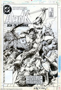 Original Comic Art:Covers, Tony DeZuniga - Original Cover Art for Arak Son of Thunder #39 (DC,1984). By far, DC's most successful barbarian hero was A...