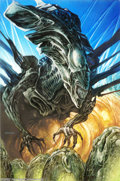 """Original Comic Art:Sketches, Dave Dorman - Original Art for Aliens: Tribes (Dark Horse Publishing, 1992). """"She spoke without speaking, heard without hear..."""