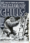 Original Comic Art:Covers, Lee Elias - Original Cover Art for Chamber of Chills #14 (Harvey,1952). Lee Elias has been unjustly overshadowed by his art...