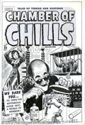 Original Comic Art:Covers, Lee Elias - Original Cover Art for Chamber of Chills #24 (Harvey,1951). This is actually the fourth issue of the title as t...
