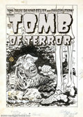 Original Comic Art:Covers, Lee Elias - Original Cover Art for Tomb of Terror #9 (Harvey,1953). Sometimes prison is just better, as this mole-like con ...