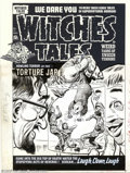 Original Comic Art:Covers, Lee Elias - Original Cover Art for Witches Tales #13 (Harvey,1952). Miniaturization is a favored gimmick among science fict...