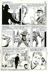 Bill Everett - Original Art for Daredevil #1, pages 8 and 9 (Marvel, 1964). Though best known for his work on Sub-Marine...