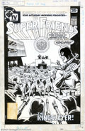Original Comic Art:Covers, Ramona Fradon and Bob Smith - Original Cover Art for The SuperFriends #11 (DC, 1978). Set in the United Nations conference ...