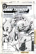 Original Comic Art:Covers, Dick Giordano - Original Cover Art for Jonni Thunder #4 (DC, 1985).In an attempt to update a classic character, Roy and Dan...