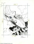 "Original Comic Art:Sketches, Dick Giordano - Original Illustration, ""Supermobile"" (1979). In1979, at the height of Supermania, Corgi released a new toy,..."