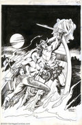 Original Comic Art:Covers, Jose Gonzales and Alfredo Alcala - Original Cover Art for Arak #18(DC, 1982). Gonzales is widely recognized as the consumma...