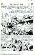Original Comic Art:Splash Pages, Jerry Grandenetti and Bernard Sachs - Original Art for Our Army atWar #33, page 1 (DC, 1955). This is the splash page for t...