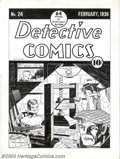 Original Comic Art:Covers, Fred Guardineer - Original Cover Art Reproduction for DetectiveComics #24 (DC, 1939). Fred Guardineer is one of the pioneer...
