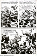 Original Comic Art:Splash Pages, Russ Heath - Original Art Splash Page for Our Army at War #208,page 11 (DC, 1969). If you're looking for a single page that...