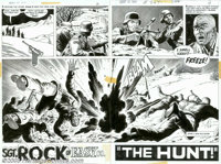 """Russ Heath - Original Art for Our Army At War #264, Complete 12-page story """"The Hunt"""" (DC, 1974). Here's a gri..."""
