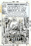 Original Comic Art:Covers, Gil Kane - Original Cover Art for Crypt of Shadows #6 (Marvel,1973). Renowned for superhero, science fiction, and fantasy a...