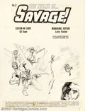 Original Comic Art:Splash Pages, Gil Kane - Original Unpublished Splash Page for His Name Is Savage#2 (1968). An innovator throughout his long career, Gil ...