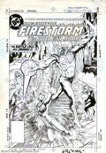 Original Comic Art:Covers, Rafael Kayanan - Original Cover Art for The Fury of Firestorm #36(DC, 1983). Firehawk joins Firestorm in a battle against K...