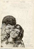 Original Comic Art:Covers, Jack Kirby - Original Cover Art for Soul Love #1 (1972). Inspiredby the blaxploitation films that were then so popular in t...