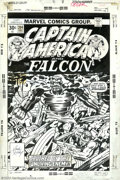 """Original Comic Art:Panel Pages, Jack Kirby and Frank Giacoia - Original Cover Art for Captain America #204 (Marvel, 1976). """"A walking corpse threatens all t..."""