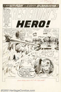 Original Comic Art:Splash Pages, Joe Kubert - Original Art for Our Army at War #133, page 1 (DC,1963). Did you ever wonder what happens to a soldier after h...
