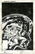 Original Comic Art:Covers, Greg LaRocque and Joe Rubinstein - Original Cover Art for MarvelTeam-Up #143 (Marvel, 1984). It's Spidey and Starfox vs. Wi...
