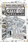 Original Comic Art:Covers, Larry Lieber - Original Cover Art for Chamber of Chills #12(Marvel, 1974). Ahh, winter... Jack Frost nipping at your nose.....