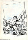 Original Comic Art:Covers, Larry Lieber and Frank Giacoia - Original Cover Art for TheIncredible Hulk Pocket Series #4 (Marvel, 1978). Everyone's favo...