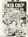 Original Comic Art:Covers, Larry Lieber - Original Cover Art for Kid Colt Outlaw #133 (Marvel,1967). This cover is the comics equivalent of a movie tr...