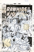 Original Comic Art:Covers, Larry Lieber - Original Cover Art for Rawhide Kid #81 (Marvel,1970). Look out! It's the Kid! This crashingly cool cover fro...