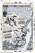 Original Comic Art:Covers, Larry Lieber - Original Cover Art for Rawhide Kid #120 (Marvel,1973). Larry Lieber presents us with this cliff-hanger from ...