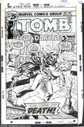 Original Comic Art:Covers, Larry Lieber - Original Cover Art for Tomb of Darkness #20 (Marvel,1976). Is it horror or is it romance? Stop - it's both! ...