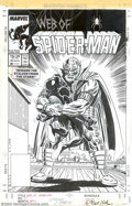 Original Comic Art:Covers, Larry Lieber and Al Milgrom - Original Cover Art for Web ofSpider-Man #25 (Marvel, 1987). Not only did Larry Lieber write a...
