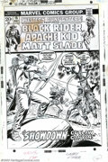 Original Comic Art:Covers, Larry Lieber - Original Cover Art for Western Gunfighters #15(Marvel, 1973). The Apache Kid takes on three bad guys at once...